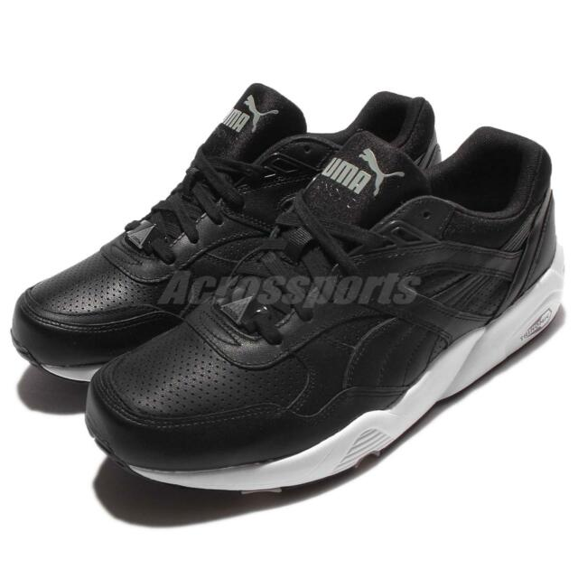Puma R698 LEATHER Scarpe Sneakers Pelle Blu per Uomo Trinomic