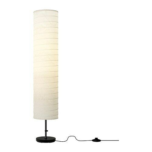 IKEA Holmo Floor Lamp Light White Rice Paper Shade Modern ...