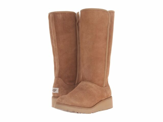 Women's Shoes UGG Classic Slim Kara Tall Boots 1013429 Chestnut ...