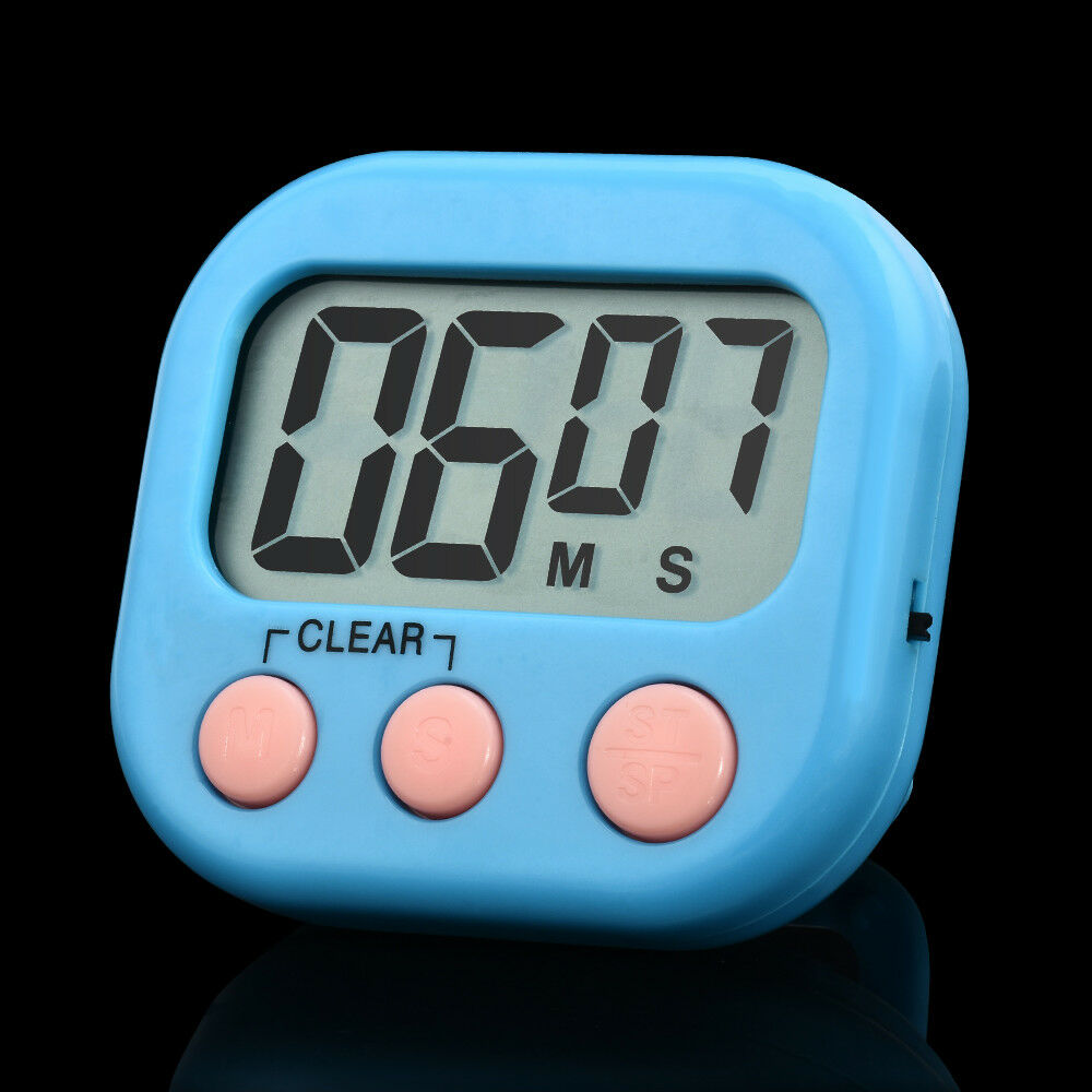 Magnetic Large LCD Digital Kitchen Cooking Timer Loud Alarm Count up ...