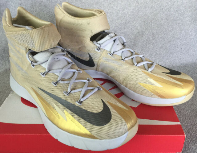 Nike Zoom Hyperrev Erving 643301703 Gold Basketball Shoes Mens 18 NBA new