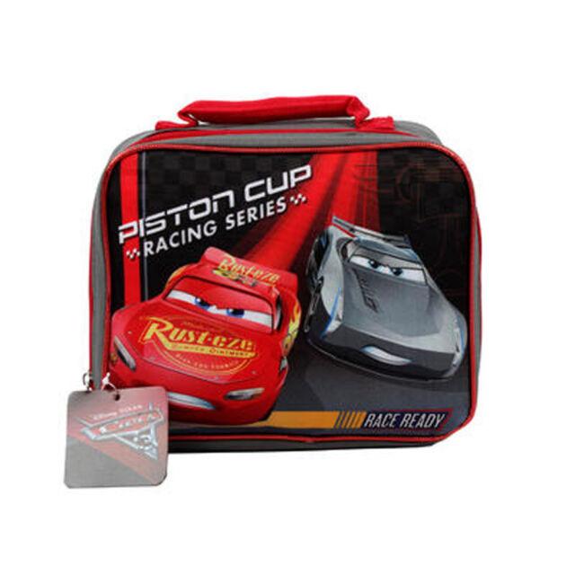 Disney Cars 3 Lightning Mcqueen Kids School Soft Insulated Rectangular Lunch Bag