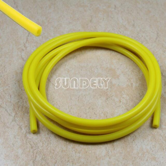 Yellow 4mm Vacuum Hose Silicon Rubber Pipe Vac Air Water Coolant Oil Turbo 5M AU & Black 4mm Vacuum Hose Silicon Rubber Pipe VAC Air Water Coolant Oil ...