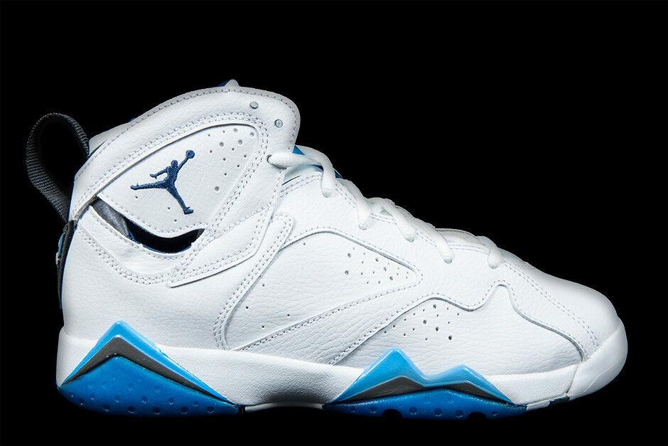 Nike Air Jordan 7 VII Retro White French Blue 304775-107 Men's 9.5