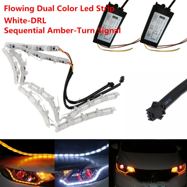 2x sequential switchback led strip lights headlight retrofit for vw 2x sequential switchback led strip lights headlight retrofit for vw volkswagen t aloadofball Image collections