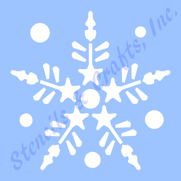 3 snowflake stencil christmas stencils template pattern templates craft 9 ebay