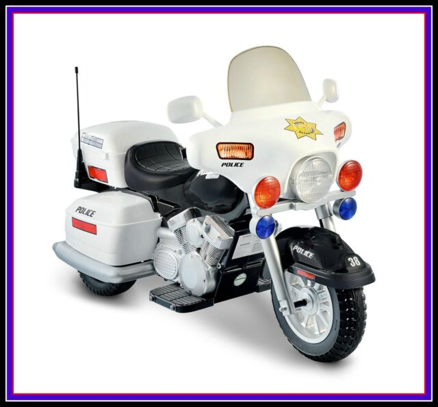 Electric Motorcycle Kids Police Ride Toy Battery Motorized