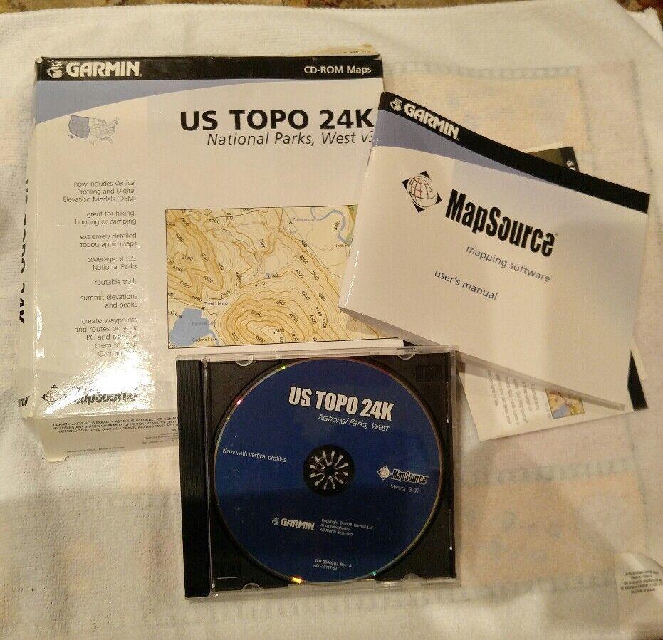 Garmin US Topo 24k National Parks West CDROM EBay - Buy Us Topo24k Garmin Maps