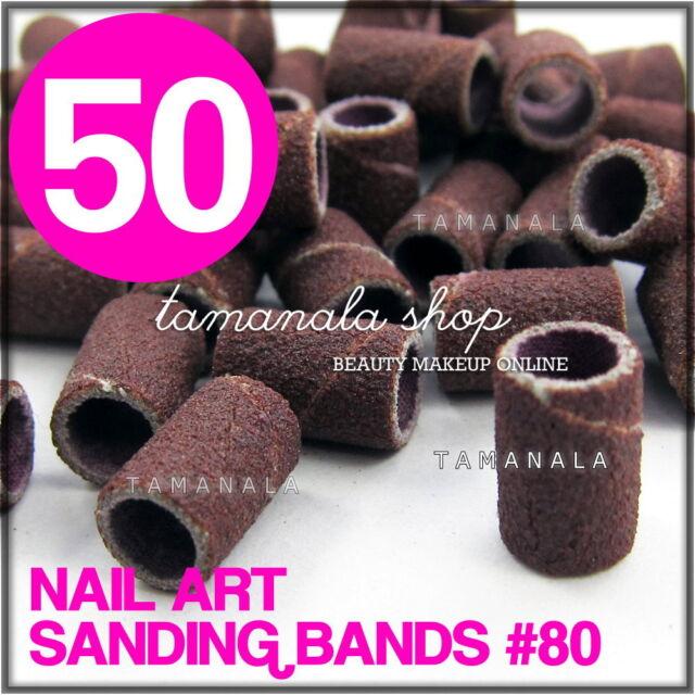 50 Pcs Sanding Band Drill File #80 Machine Bits Nail Art Salon ...