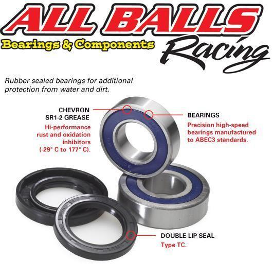 Honda NT650 Deauville Front Wheel Bearings & Seals Kit, By AllBalls Racing