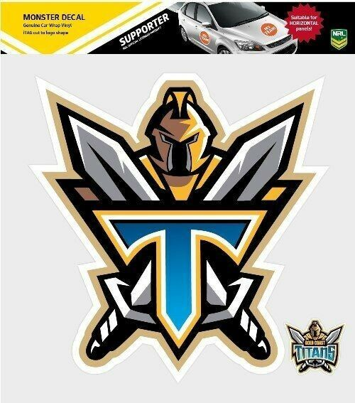 620175 gold coast titans decal secondary nrl car stickers itag