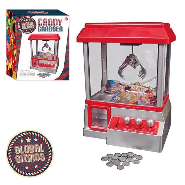 Candy Grabber Claw Machine Arcade Game Fairground Joystick Tokens