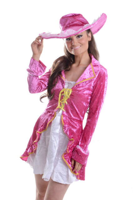 WOMENS LADIES SEXY DELUXE PIRATE  PIMP COSTUME HEN DOO FANCY DRESS PARTY OUTFIT
