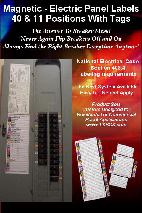 circuit breaker panel labels