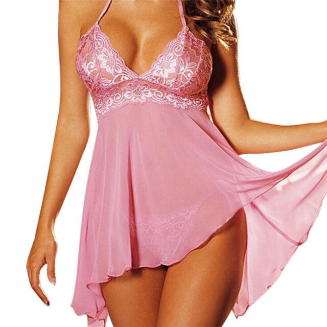 Plus Size Womens S Lingerie Lace Dress Underwear Babydoll Sleepwear ...