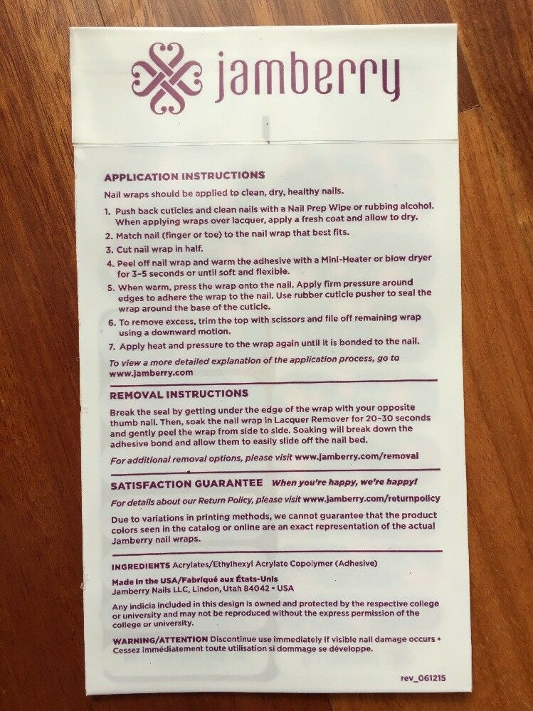 Jamberry Tea Time 1k72 Activated Nail Wrap (full Sheet ) Retired   eBay