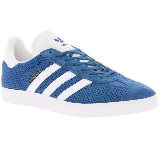 ADIDAS Gazelle Uomo Scarpe Da Ginnastica Uomo Sneaker Originals Blu Nuovo bb2757