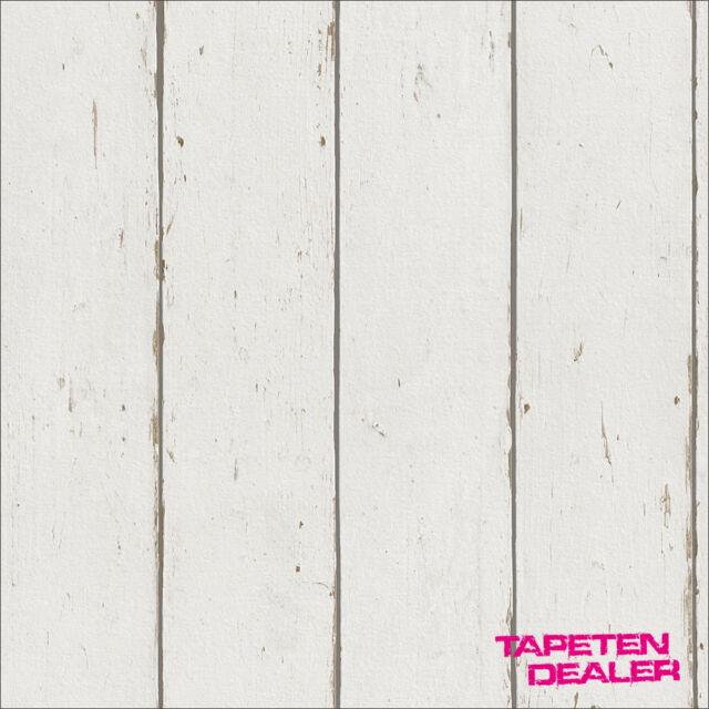 Barbara Becker Tapete Rasch 479638 / Holzoptik Natur Shabby Chic / EUR 2,30/