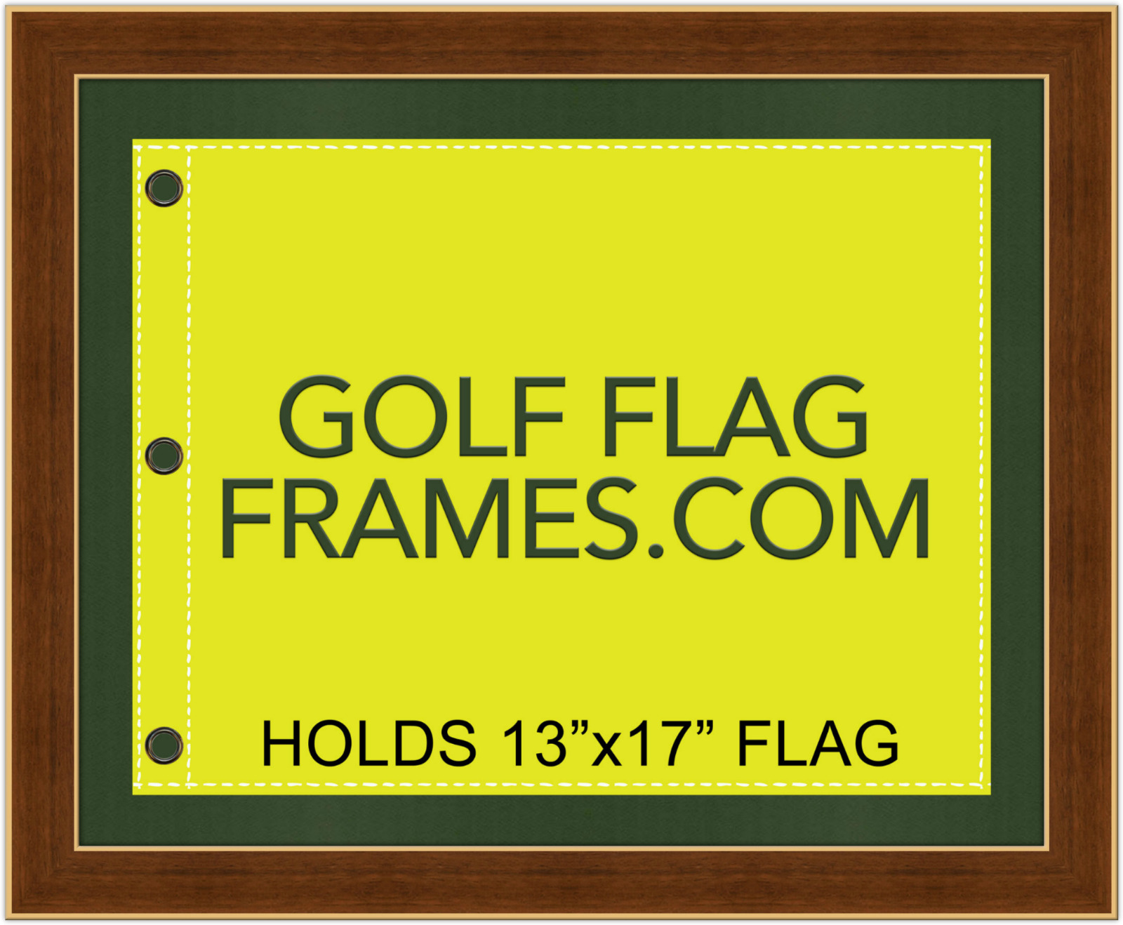 16x20 Brown Golf Flag Frame Brn-010 Holds 13x17 Masters Flag Flag ...