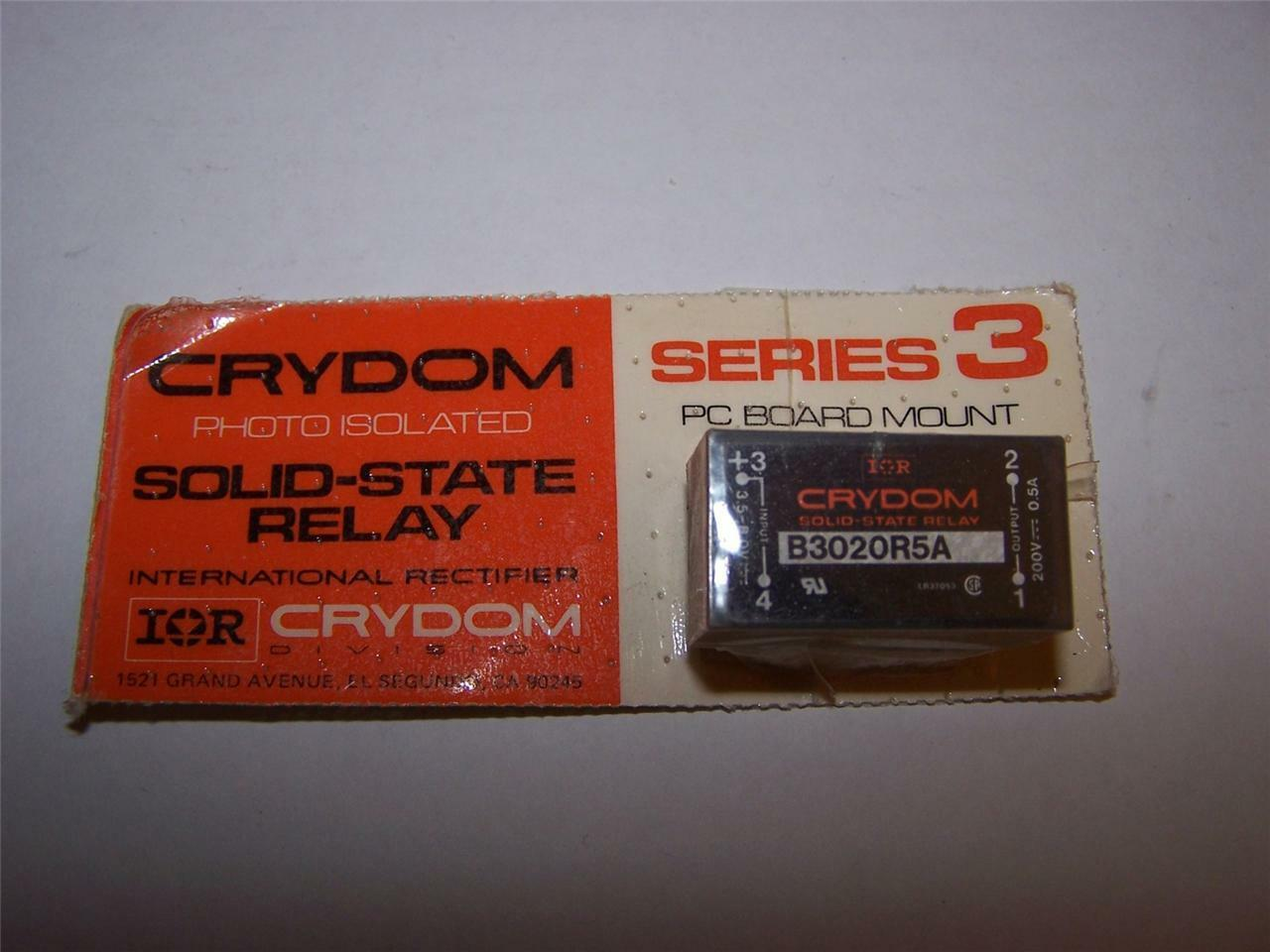 Crydomir B3020R5A Solidstate Relay PC Board Mount 200v 05a EBay - Solid State Relay Ir