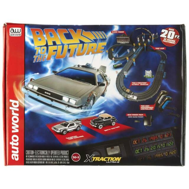 AW HO 1 64 Scale Back To The Future Slot Car Racing Set