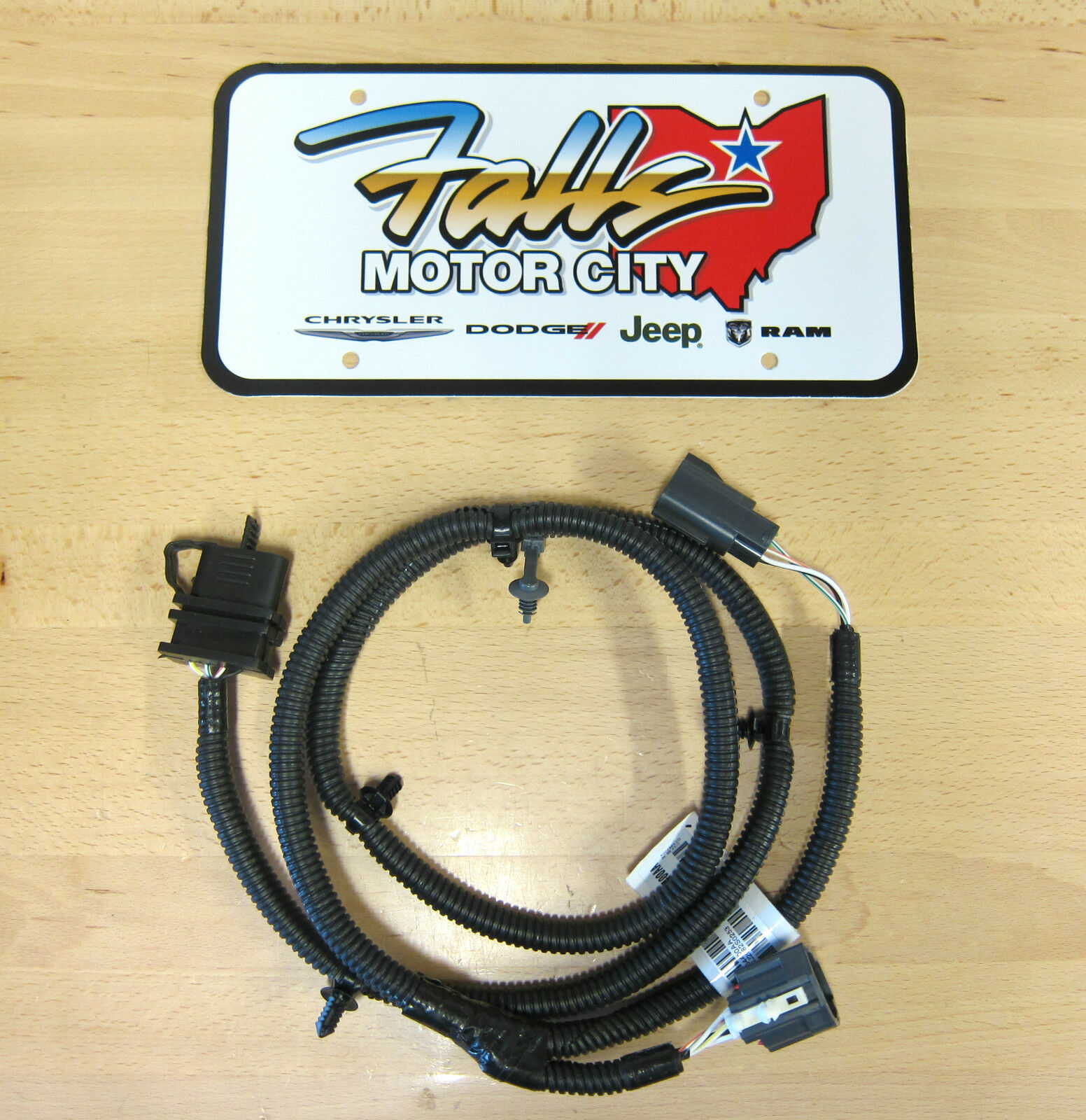 s l1600 jeep wrangler trailer tow wiring harness oem mopar 82210213 jk 4 jeep jk oem dash wiring harness at panicattacktreatment.co