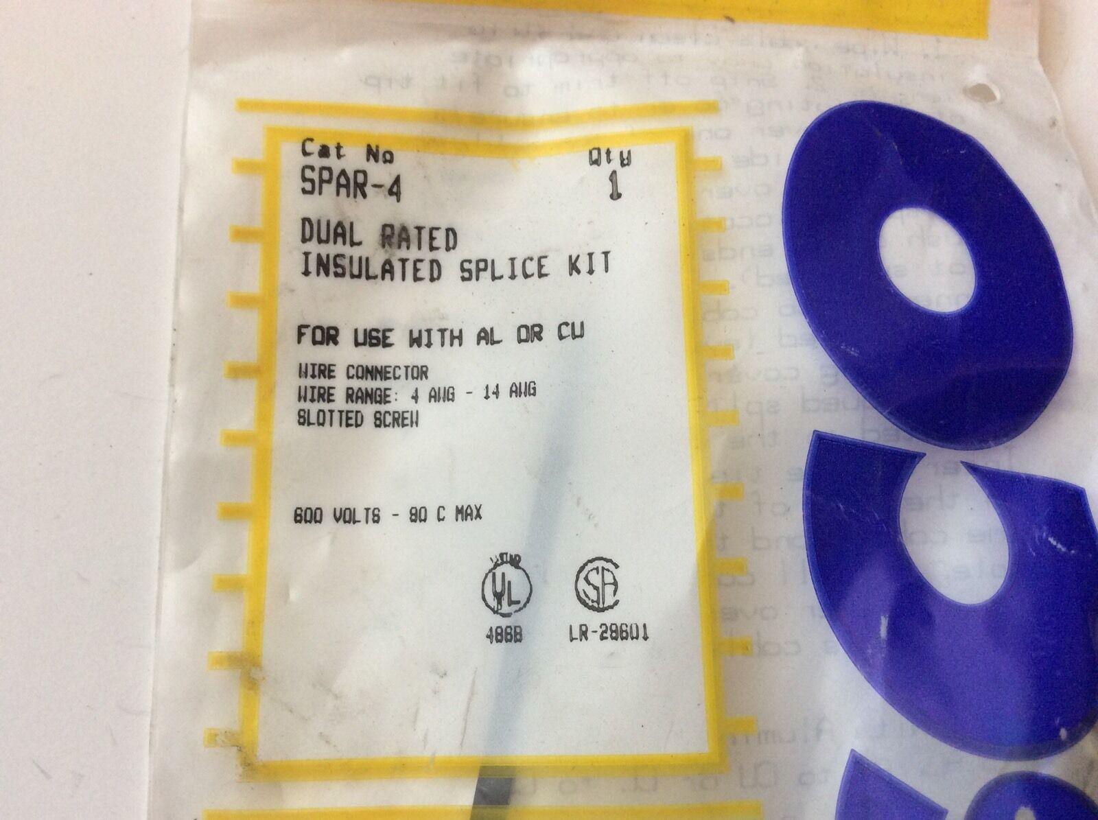 ILSCO Dual Rated Insulated Splice Kit Model Spar-4 | eBay