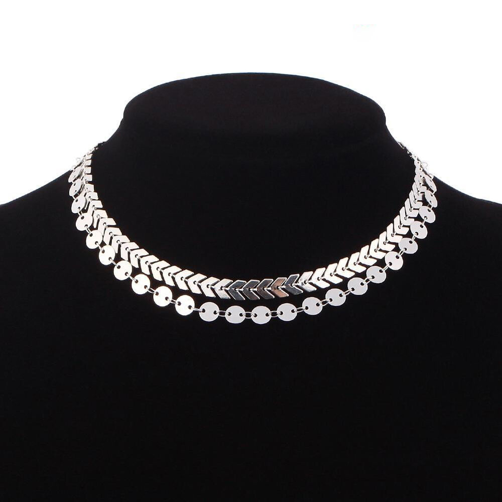 product lyst jewelry layer necklace double silver lucky quartz clear gallery in tone normal brand