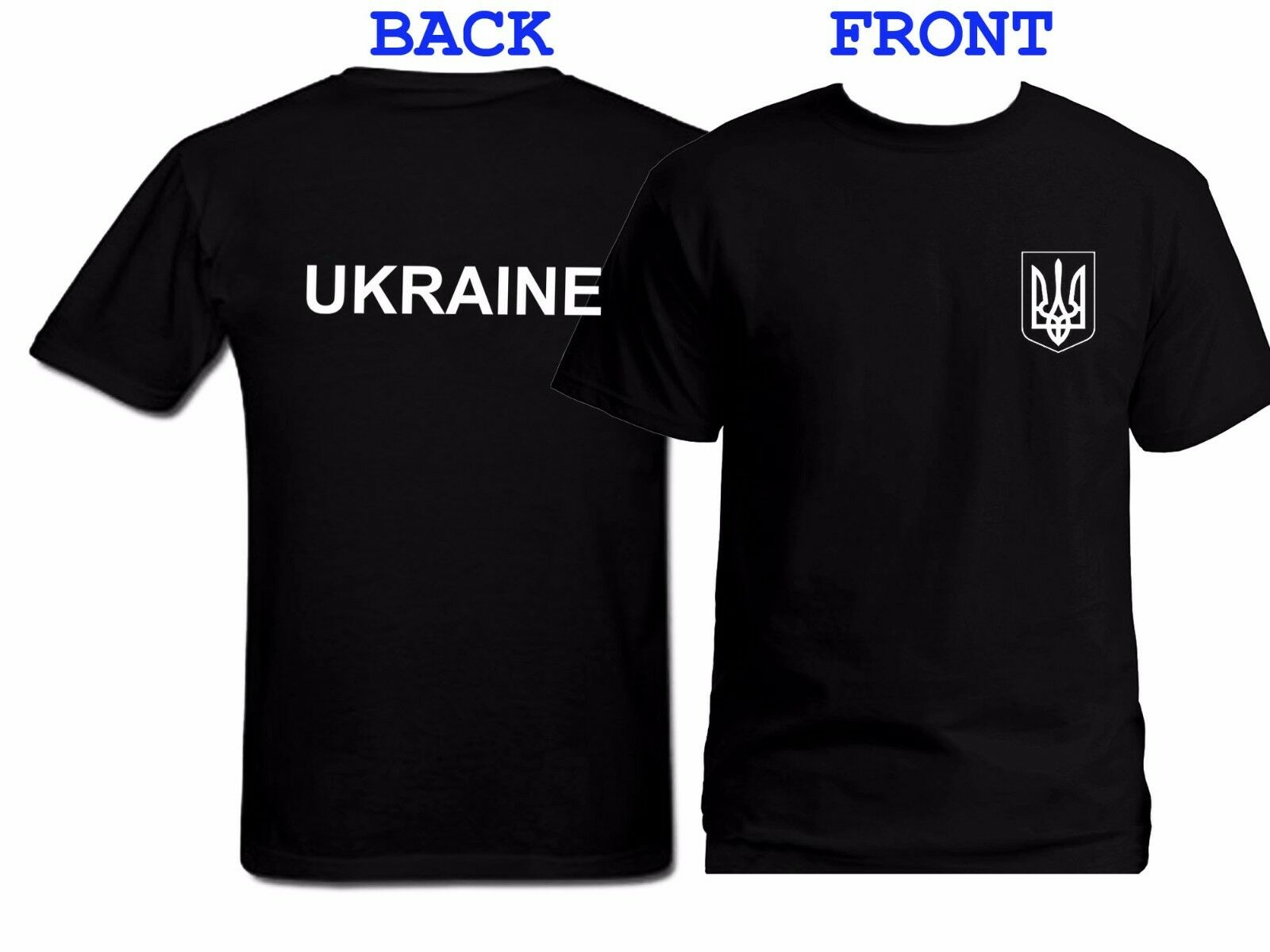 Ukrainian Flag Ukraine Patriot Symbol Ukraine Tryzub 100 Cotton T