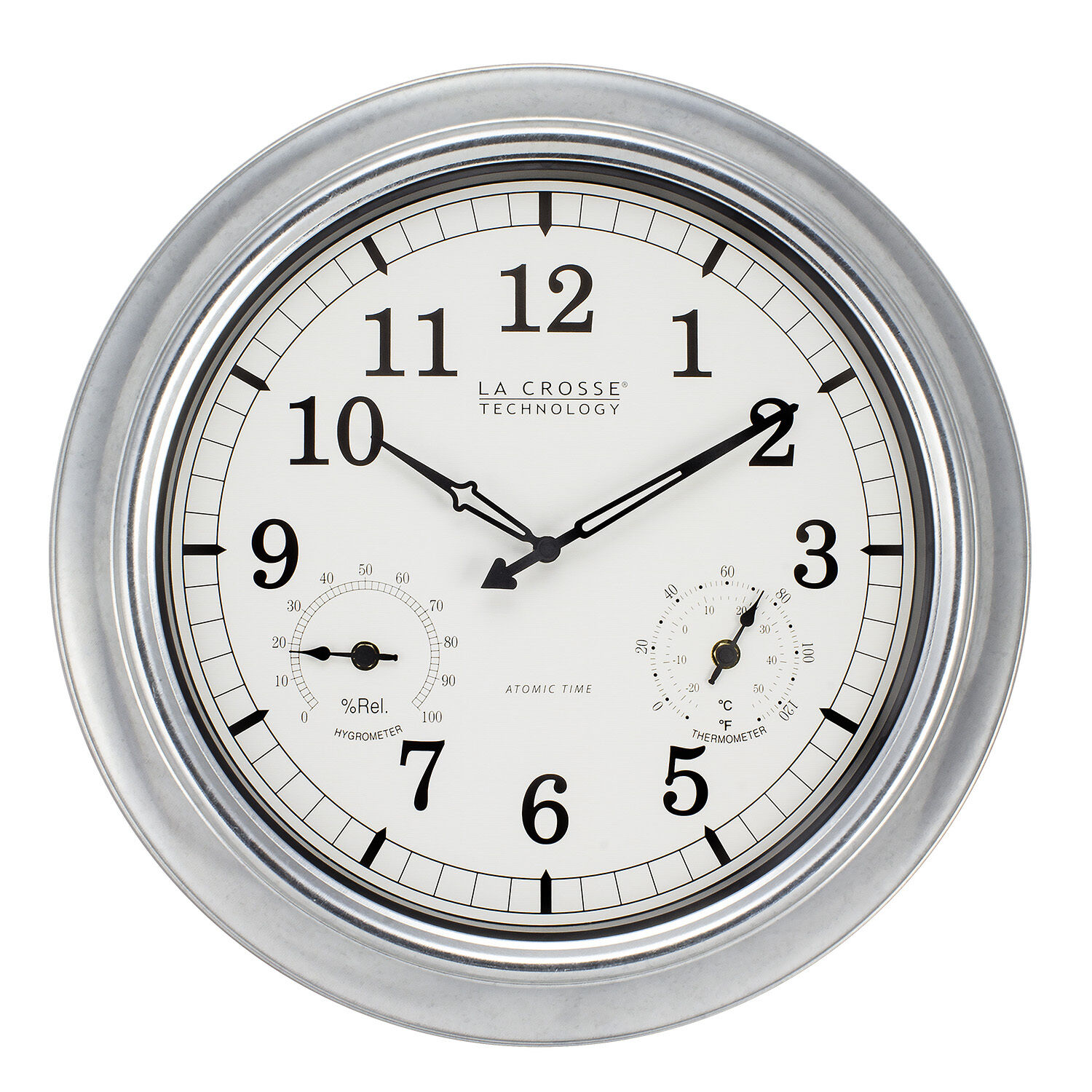 Bbb87740 la crosse technology 18 indooroutdoor atomic wall clock picture 1 of 5 amipublicfo Gallery