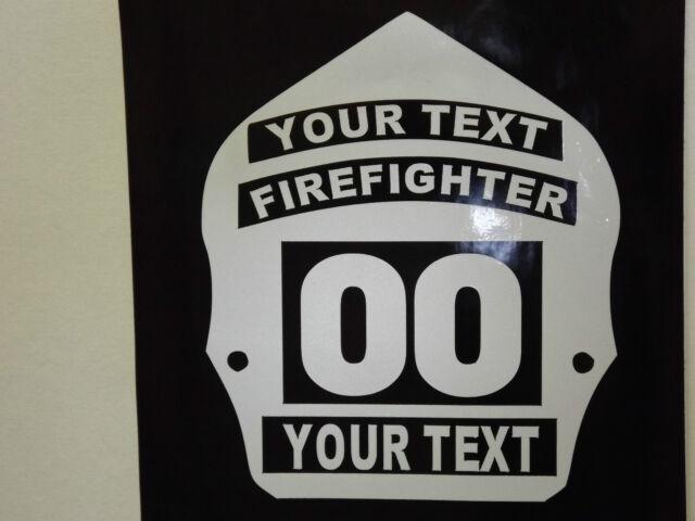 Firefighter Helmet Shield Badge Decal Custom Sticker EBay - Custom reflective fire helmet decals