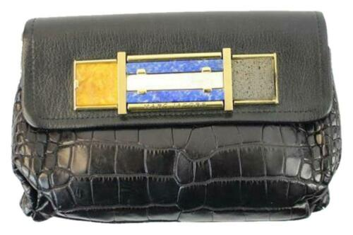 1a708949a55 Marc Jacobs Limited Edition Crocodile Black Clutch 150mja1025