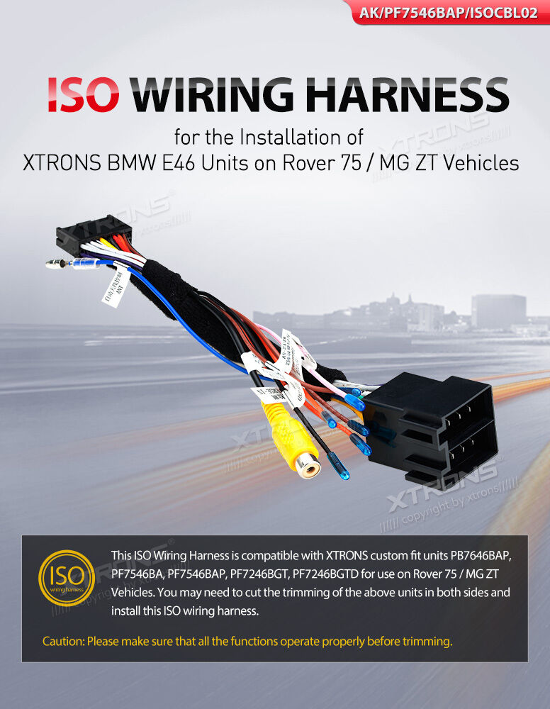 s l1600 xtrons bmw e46 units rover75 mg zt factory radio iso wire wiring xtrons iso wiring harness at bayanpartner.co