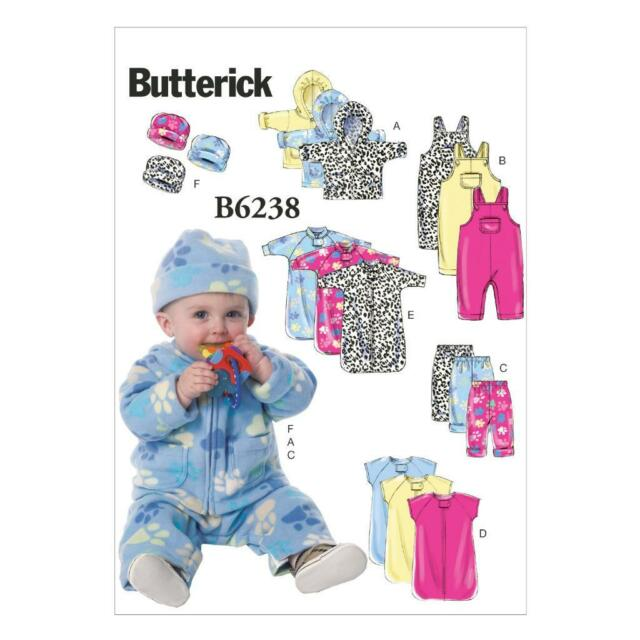 Butterick Usa Sewing Pattern B 6238 Ya5 Children Baby Clothing Cap