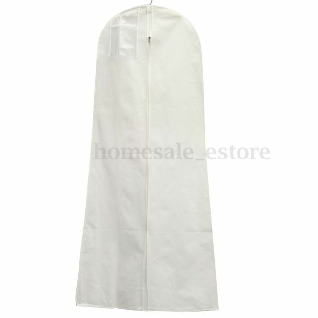 2 Size Wedding Dress Bridal Gown Garment Dustproof Breathable Cover ...