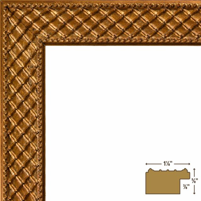 Craig Frames Lenox 1.13 Inch Antique Gold Solid Wood Picture Frame ...