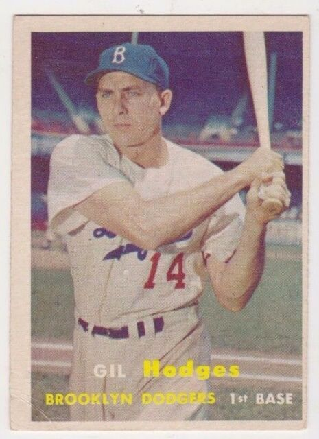 1957 Topps #80 Gil Hodges - Brooklyn Dodgers, Very Good - Excellent Condition!
