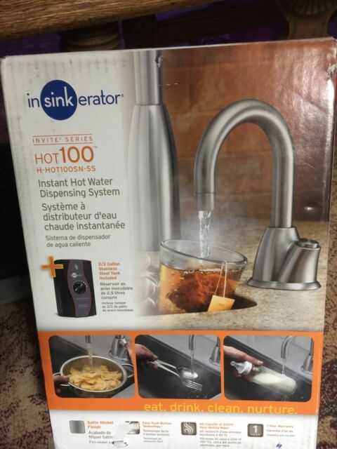 InSinkErator Satin Nickel Invite Instant Hot Water Dispenser HHOT100SNSS |  EBay