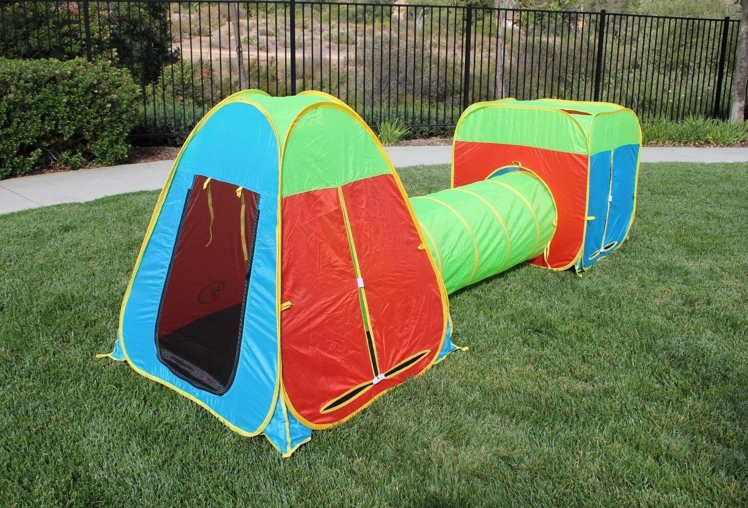 Picture 2 of 7 ... & G3elite Kids Play Tent 3 Piece Pop up Set Foldable With Attachable ...