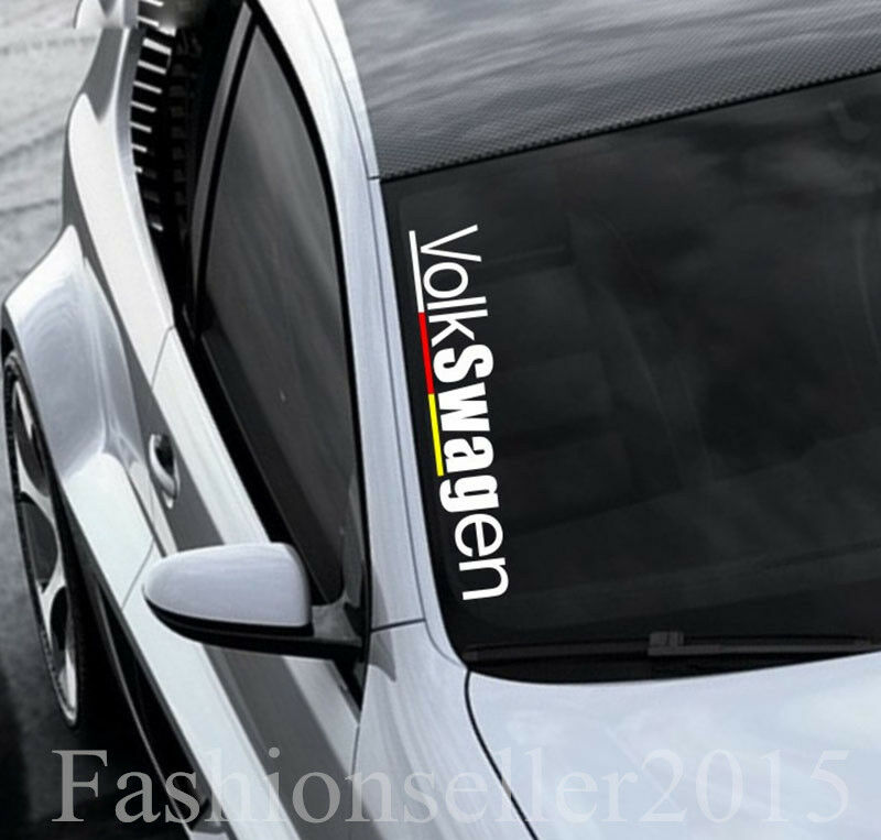 VW Front Windshield Side Decal Vinyl Car Sticker For VOLKSWAGEN - Front window stickers for car