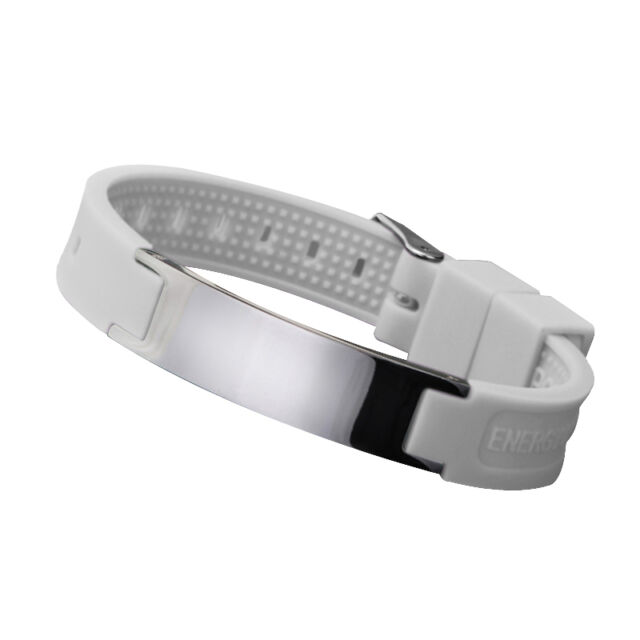 Silicone Magnetic Bio Energy Bracelet Health 4in1 Silicon Wristband White