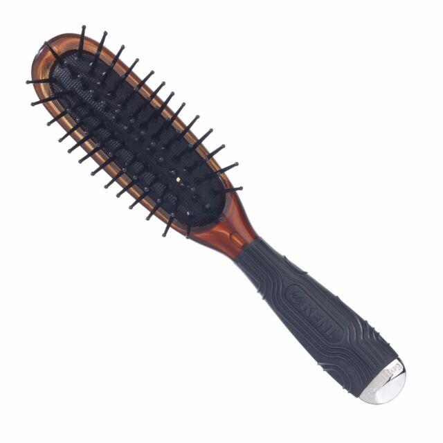 Kent Mini hog Cushioned Hair Brush HeatProof Headhog Unisex Minihog BLACK COLOU