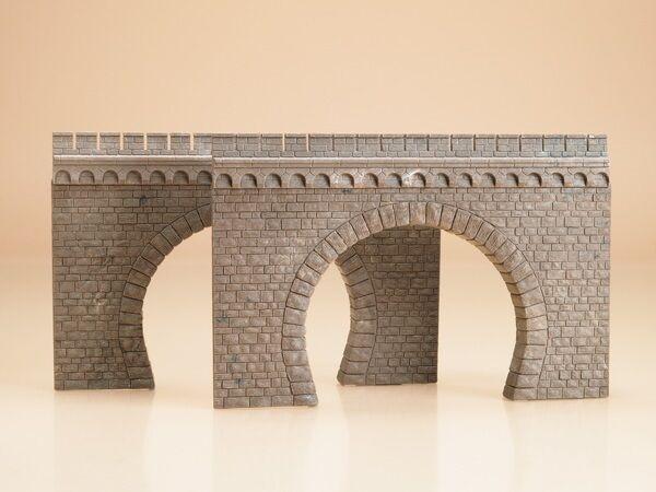 Auhagen 41587 - 2 Double Track Tunnel Portals Plastic Kit  HO/OO  T48 Post
