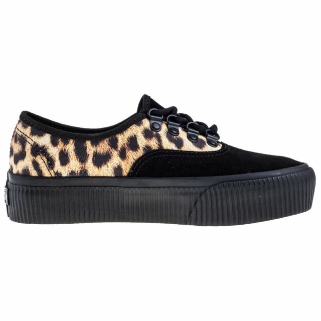 vans authentic platform shoes black