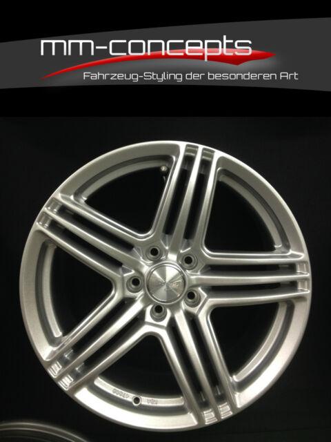 Wheelworld WH12 Felgen 7.5 X 17 Zoll 5 X 112 et45 silber VW Skoda Seat Audi Alu