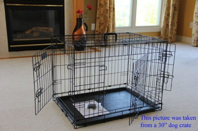 Elitefield 36 3 Door Folding Dog Crate Cage Kennel With Rubber Feet