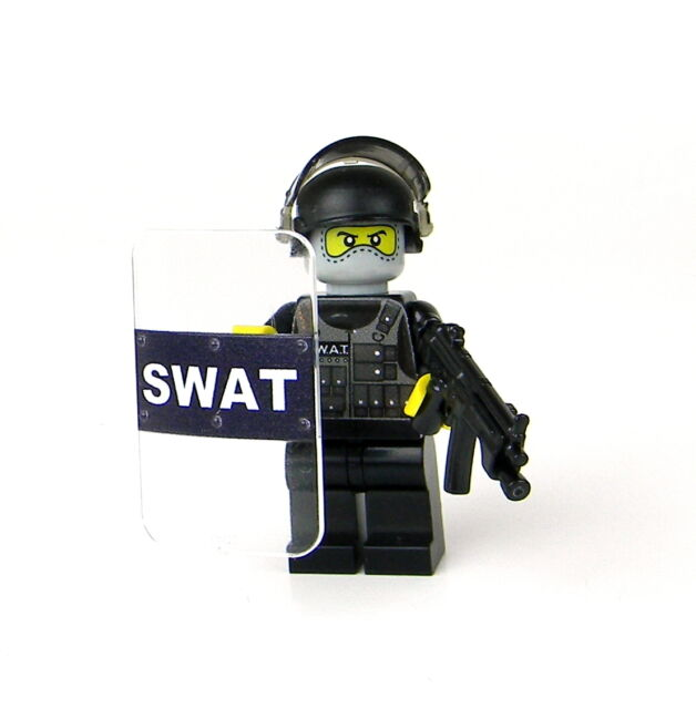 Lego Swat Photo1: Custom Lego(r) Police SWAT Officer Minifigure With Riot