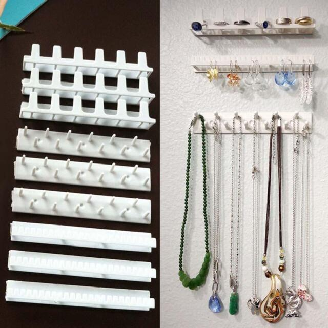 Wall Mount Jewelry Holder Organizer Earring Necklace Shelf Rack