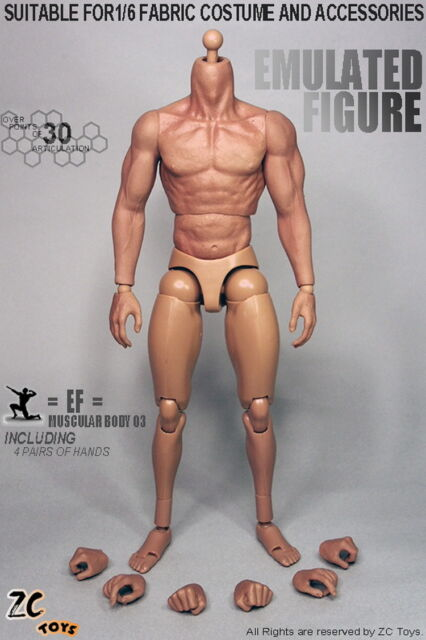 Zc Toys 16 Scale 30 Muscular Male Figure Body With Seamless Arms