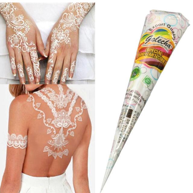 Natural herbal henna cones temporary tattoo kit white body for Ebay tattoo ink